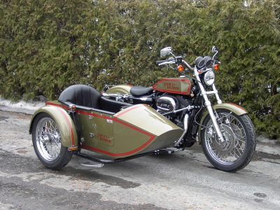 TM-401 low profile frame & rear trunk - H-D Sportster 2006 converted TM-11J (1915)