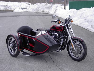 TM-401 low profile frame & rear trunk - H-D Sportster 2008 converted TM-16J (1916)