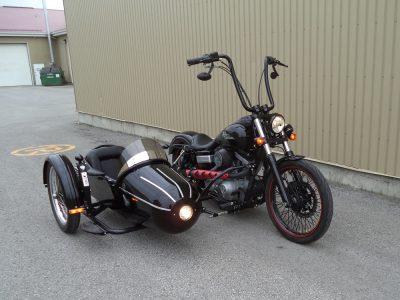 Harley Dyna Wide Glide + sidecar Bimmer S-350